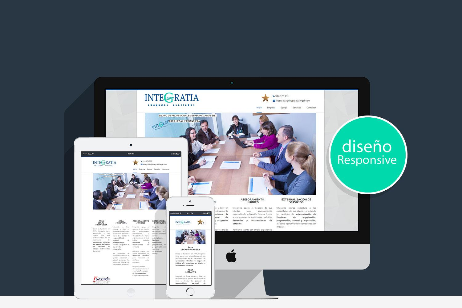Proyecto Web Corporativa Responsive Integratia Legal